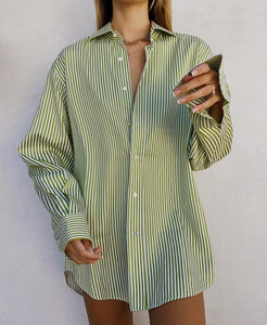 Etro Light Green Boyfriend Button Down