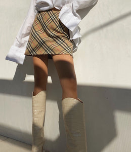 Vintage Burberry Mini Skirt