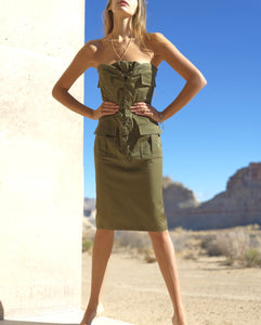 RARE Yves Saint Laurent By Tom Ford Safari Dress