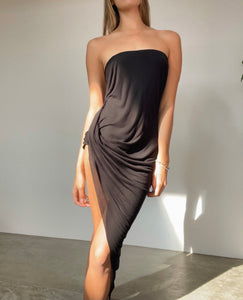 Helmut lang high rise split dress