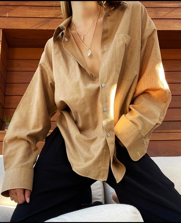 YVES SAINT LAURENT OVERSIZED LONG SLEEVE BUTTON DOWN
