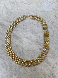 Gold Tone Chunky Chain Link Necklace