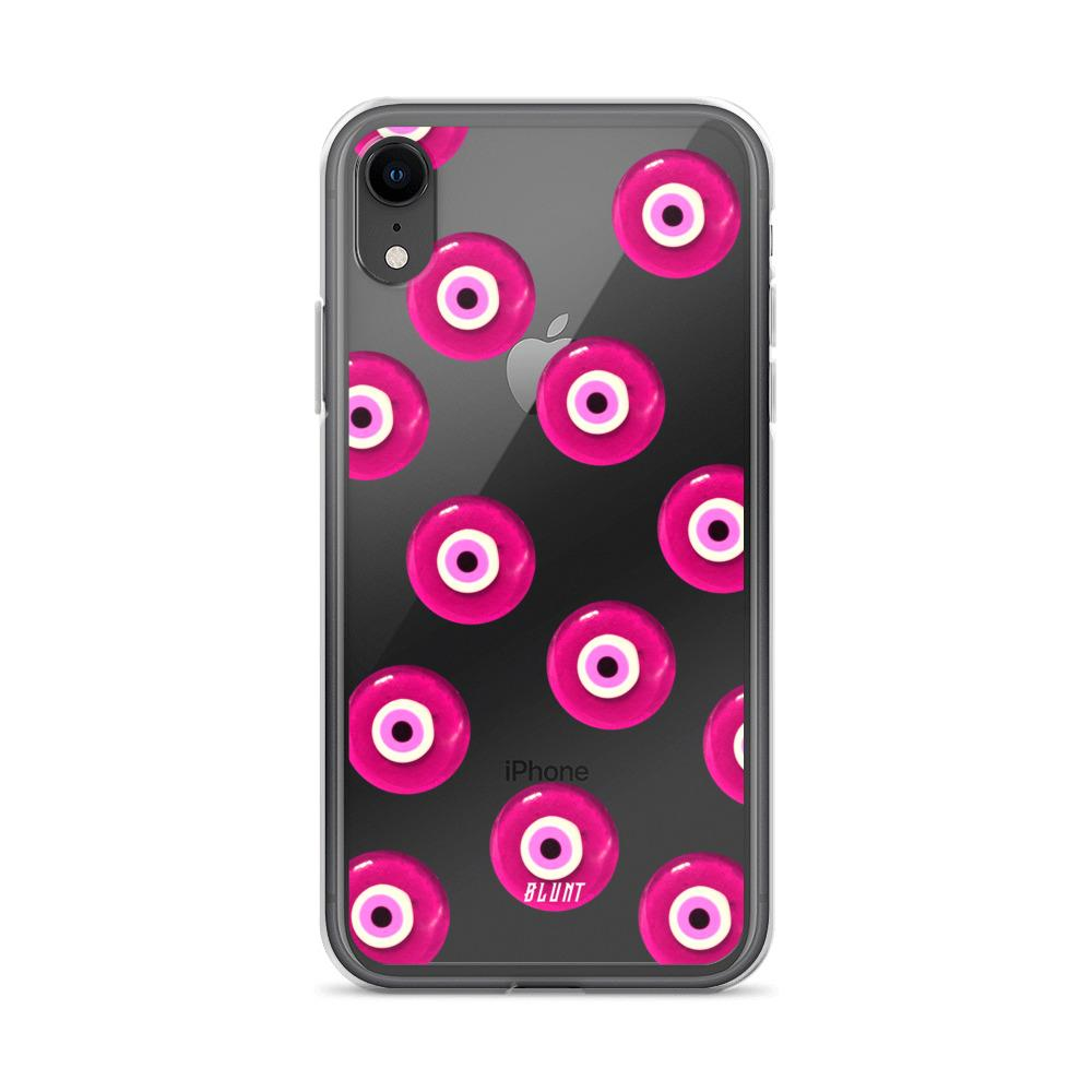 Pink Evil Eyez iPhone Case - blunt cases