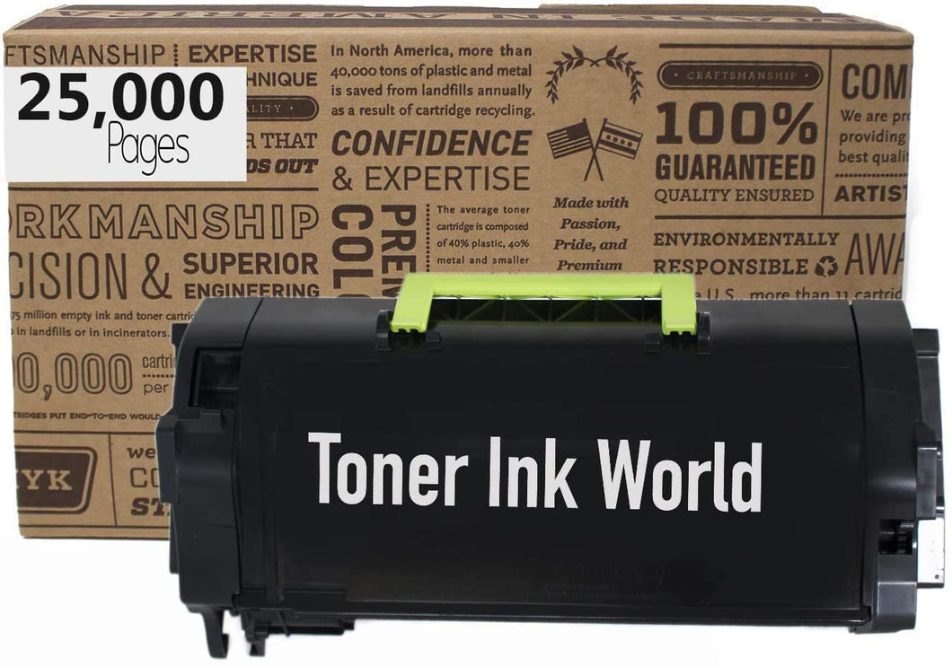 TIW Compatible 53B0HA0 25,000 Page High Yield Remanufactured Toner Cartridge Replacement for Lexmark MS817, MS818