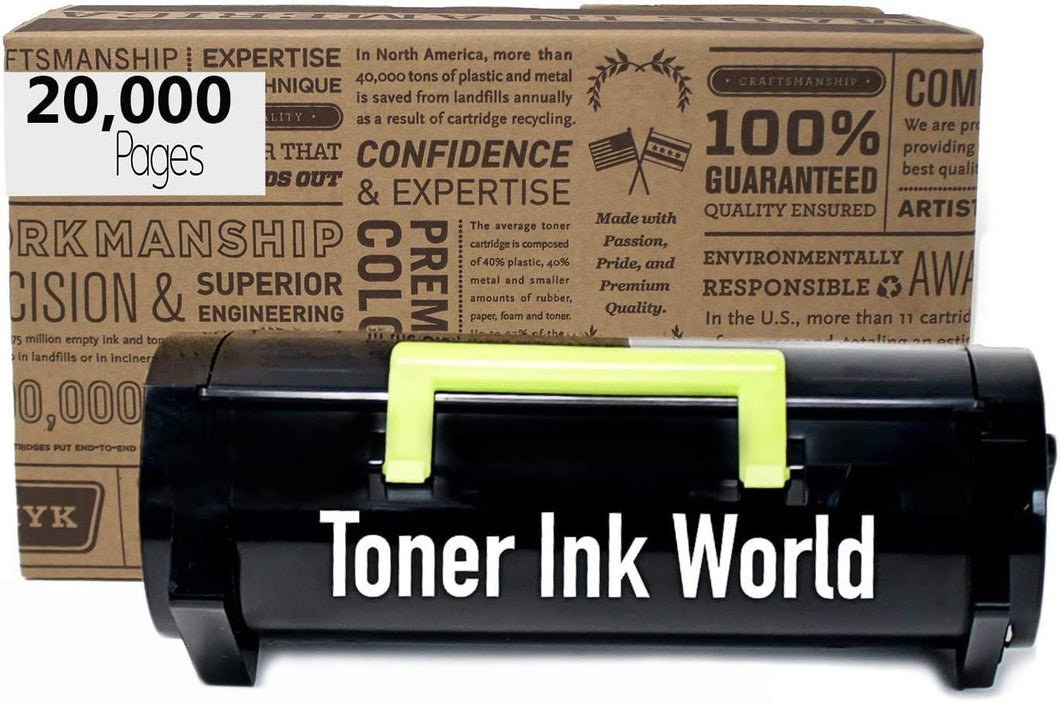 TIW Compatible 51B0XA0 20,000 Page High Yield Remanufactured Toner Cartridge Replacement for Lexmark MS517, MS617, MX517, MX617