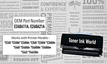 Load image into Gallery viewer, TIW Lexmark E260dn Replacement Black Toner Cartridge for Lexmark E260, E260dn, E260d, E360, E360d, E360dn, E460 Printers High Yield 3,500 Pages, Cartridge E260A21A, E260A11A Perfect for Home and Commercial Use