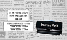 Load image into Gallery viewer, TIW Dell PK941 Replacement Black Toner Cartridge for Dell 2330, 2330d, 2330dn, 2350, 2350d, 2350dn Cartridge 3302650 Printers High Yield 6000 Page Printing 2 PACK