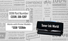Load image into Gallery viewer, TIW Dell 3330 Replacement Black Toner Cartridge for Dell 3330, 3330dn, 330-5206 Printers High Yield 14,000 Page Printing Cartridge 330-5207, C233R, U903R, Home or Commercial Use