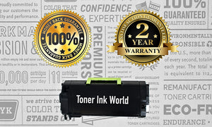 TIW MS810 Replacement Black Toner Cartridge for Lexmark MS810, MS710 MS710n, MS711 MS711dn, MS810de, MS811, MS811dn, Printers High Yield 25,000 Page Printing Cartridge 52D1H00 & 521H - 2 PACK