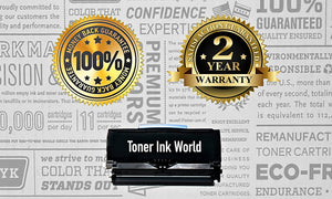 TIW Lexmark E260 Replacement Black Toner Cartridge for Lexmark E260, E260dn, E260d, E360, E360d, E360dn, E460 Printers High Yield 3,500 Pages, Cartridge E260A21A, E260A11A - 2 PACK