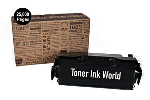 TIW Lexmark T650H04A Replacement Black Toner Cartridge for Lexmark T650, T652, T654, T656 Printers High Yield 25,000 Pages Perfect for home & commercial use.