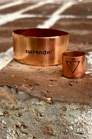 Inscribed Copper Cuffs