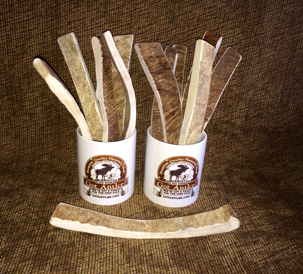 Moo-Frye Moose Antler A Great Way To Try A Moose Antler (For Dogs Over 50lbs) NOW Available in 5 Flavors!!