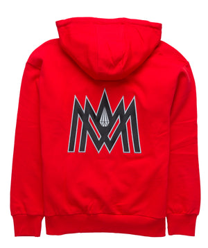 RED AND GREY/SILVER HOODIE ATL
