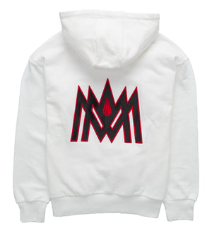 WHITE AND RED HOODIE ATL