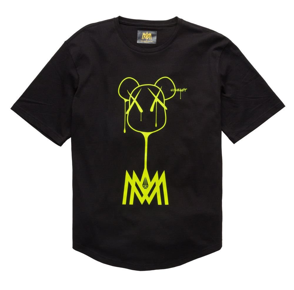 Load image into Gallery viewer, BLACK AND NEON TSHIRT