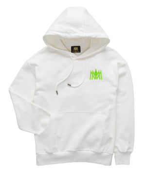 White and Lime Green Hoodie ATL
