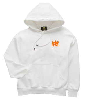 Load image into Gallery viewer, White and Orange Hoodie ATL