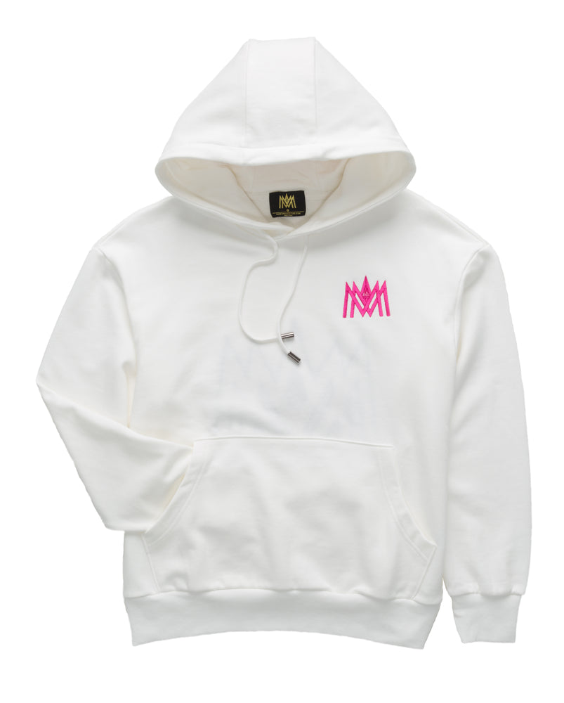 Load image into Gallery viewer, White and Pink Hoodie ATL