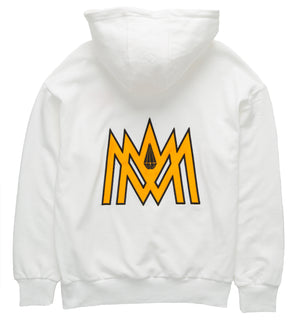 White and Orange Hoodie ATL