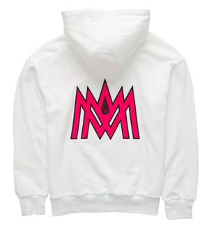 White and Hot Pink Hoodie ATL