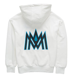 White and Blue Hoodie ATL