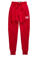 Red/White Calligraphy Sweatpants
