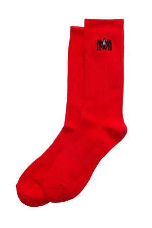 RED CREW SOCKS