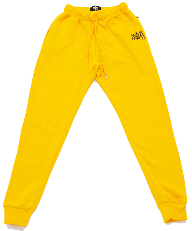Yellow Calligraphy Sweats
