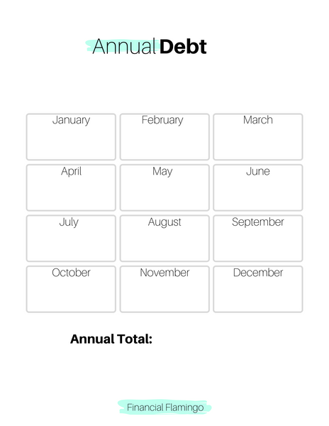 Annual Debt Tracker {Printable}