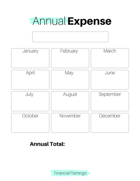 Annual Expense Tracker {Printable}