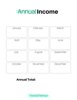 Annual Income Tracker {Printable}