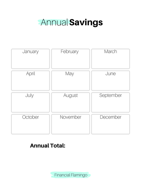 Annual Savings Tracker {Printable}