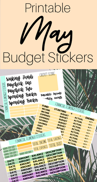 May Budget Planner Stickers {Printable}
