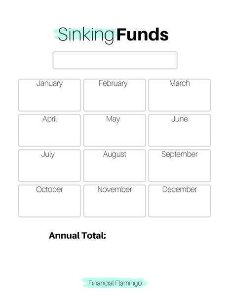 Annual Sinking Fund Tracker {Printable}