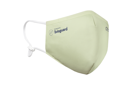 Livinguard mask Pro with reference to CE certified medical face mask type 1 allowed in public transport and shopping