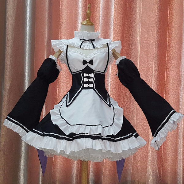 [Free Shipping] Re:zero Ram/Rem Cosplay