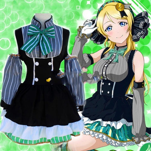 [FreeShipping] Lovelive Cosplay Costume - Maid Uniform