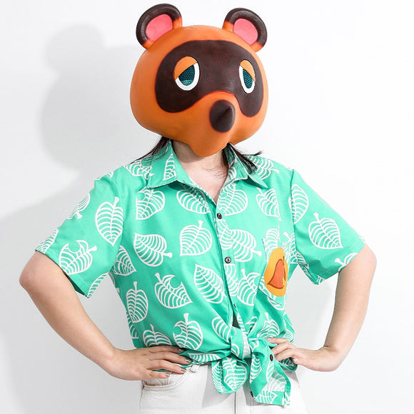 [Free Shipping] Animal Crossing T Shirt Tom Nook Cosplay