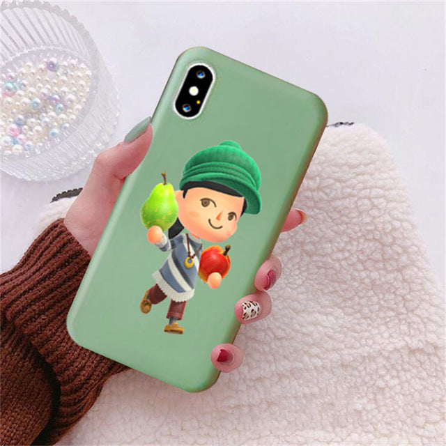 [Free Shipping] Animal Crossing Candy Color Case Phone for Iphone