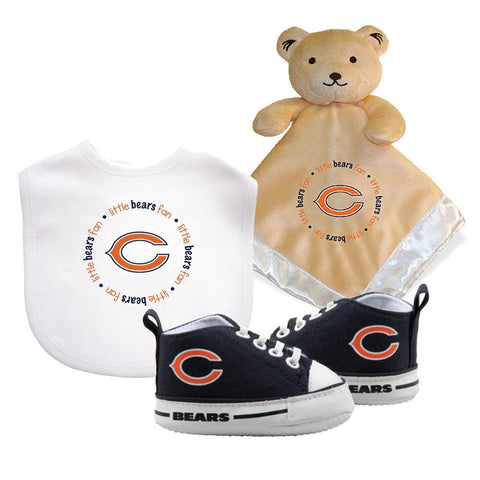 Chicago Bears NFL Infant Blanket Bib and Shoe Deluxe Set
