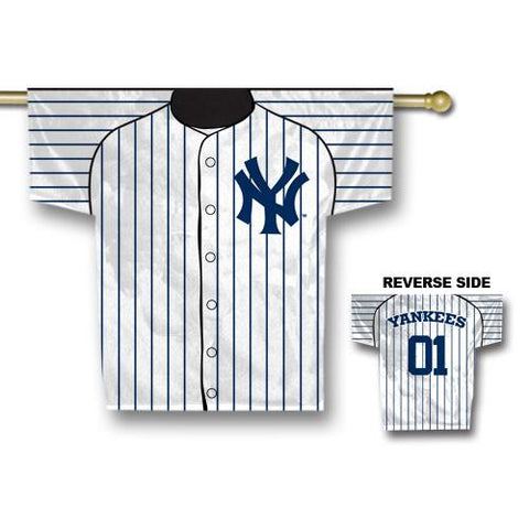 New York Yankees MLB 2 Sided Jersey Banner (34 x 30)