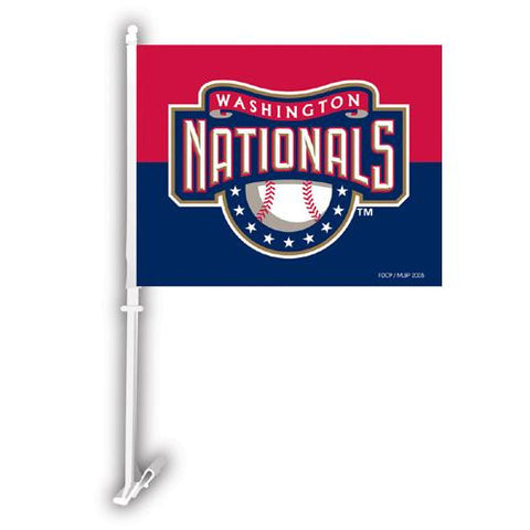 Washington Nationals MLB Car Flag W-Wall Brackett