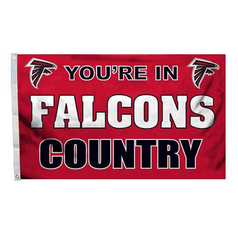 Atlanta Falcons NFL You're in Falcons Country 3'x5' Banner Flag