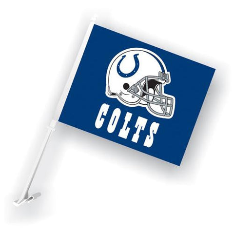 Indianapolis Colts NFL Car Flag with Wall Brackett