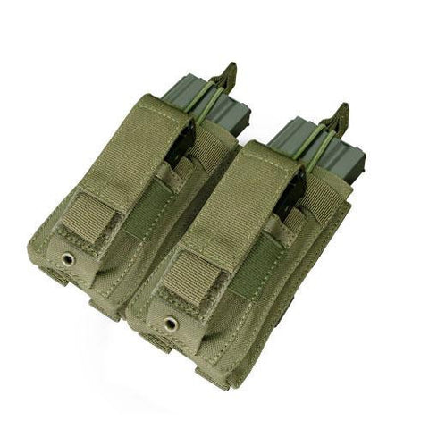"""Double Kangaroo Magazine Pouch holds (2) M4-M16 Mag, (2) Pistol Mag - Color: OD Green"""