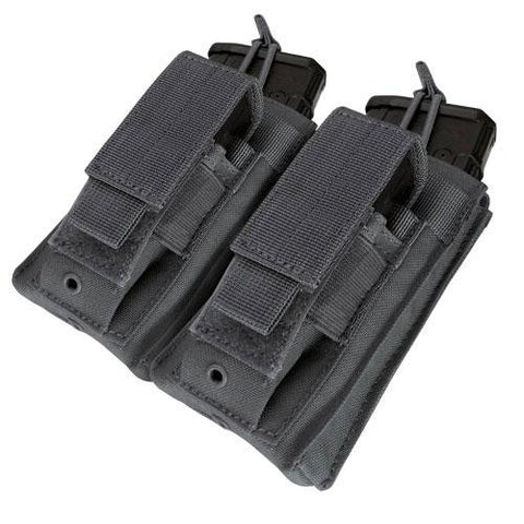 """Double Kangaroo Magazine Pouch holds (2) M4-M16 Mag, (2) Pistol Mag - Color: Black"""