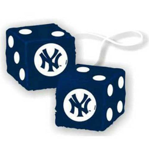 New York Yankees MLB 3 Car Fuzzy Dice