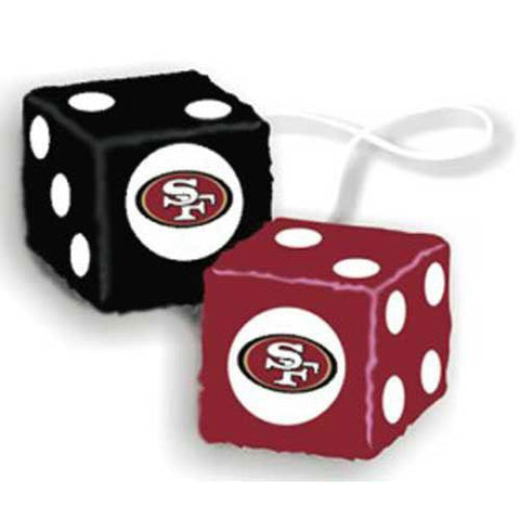 San Francisco 49ers NFL 3 Car Fuzzy Dice