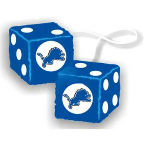 Detroit Lions NFL 3 Car Fuzzy Dice